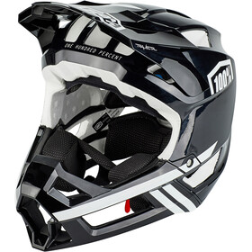 100% Trajecta Casque, black/white